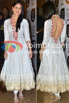 Kareena Kapoor At Lakme Fashion Week 2012 in Gorgeous Manish Malhotra Anarkali w/ Open Back Manish Malhotra Anarkali, Salwar Kameez, Churidar, Lakme Fashion Week, India Fashion, Asian Fashion, White Anarkali, Anarkali Dress, Bollywood Dress