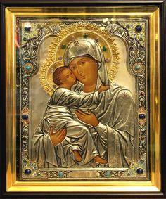 """Icono de la Madre de Dios """"de Vladimir"""".  Certificado 193"""