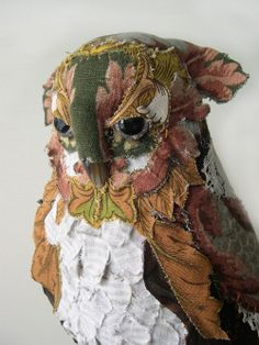 Textile Animals by Bryony Jennings - Owl Pinned by www.myowlbarn.com