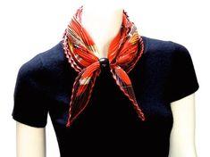 MaiTai's Picture Book: Plissé scarves - knot look sheet