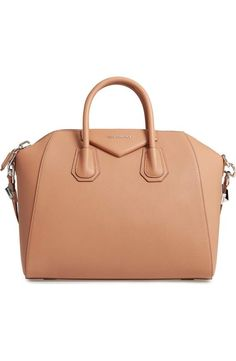 Medium Antigona' Sugar Leather Satchel