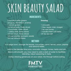 The key ingredients in this nourishing salad are rich in vitamins and minerals that help give your skin that radiant glow. Follow the recipe tutorial here --> https://www.fmtv.com/watch/skin-beauty-salad