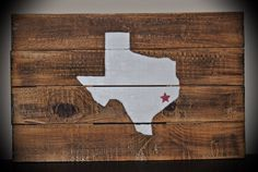 Reclaimed Pallet Wood Wall Decor Sign Custom State Distressed Art Texas
