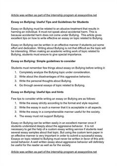 expository essays topics ideas for english essay fun persuasive  how to write an essay for bullying specialist s opinion