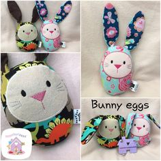 These handmade cute little cuddles are Animal EggHeads Lovinly handmade to order and personalised The perfect size for little hands to cuddle Great Easter gift Handmade Soft Toys, Handmade Gifts, Small Baby, Easter Gift, Kid Names, Softies, Baby Toys, Cute Animals, Bunny