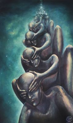 "Sebastian Eriksson Art - ""Ignoring the ignorance"" - Oil on canvas (60x90 cm)"