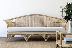 Queenslander Daybed. | Naturally Cane Rattan and Wicker Furniture Mattress Covers, Cushion Covers, Wicker Furniture, Outdoor Furniture, Outdoor Decor, Throw Cushions, Seat Cushions, Coffee Table Accessories, Queenslander
