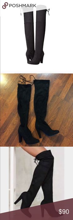 Gorgeous Steger Madden Thigh High boots So cute! Some scuffing as you can see in the photo- only worn once (: make me an offer! Steve Madden Shoes Over the Knee Boots
