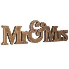 Mr & Mrs MDF Wall Art