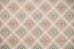 Vintage Wallpaper by the Yard - Antique Geometric Wallpaper with Pink Blue and Gold Geometric Designs on Brown Pink Bathroom Tiles, Pink Tiles, Golden Harvest, White Damask, Geometric Wallpaper, Different Patterns, Geometric Designs, Vintage Pink, 1930s