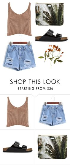 """""""!"""" by faithbrownn ❤ liked on Polyvore featuring River Island, Birkenstock and Mauro Grifoni"""