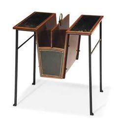 Paul Dupre-Lafon, Leather, Iron and Brass Magazine Table, Art Deco Furniture, Modern Furniture, Furniture Design, Art Nouveau, Magazine Table, Modernist Movement, Link Art, Good Morning Friends, Harlem Renaissance