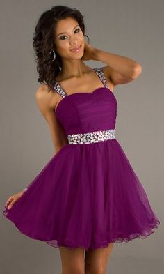 Shop short prom dresses and short formal gowns at PromGirl. Short prom dresses, formal short dresses, semi-formal short dresses, short party dresses for prom, and short dresses for prom Grad Dresses Short, Homecoming Dresses, Formal Dresses, Short Prom, Graduation Dresses, Pretty Dresses, Beautiful Dresses, Purple Party Dress, Dama Dresses