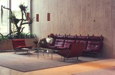 Preben Fabricius is taking a breather in his and Jørgen Kastholm's bo-565 sofa for bo-ex furniture ca. mid-1960s.