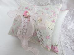 Shabby sweet Mothers Day gift set of 2 pink roses by TheJoyfulHome
