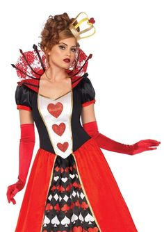 Red Head Halloween Costumes, Queen Of Hearts Halloween Costume, Queen Costume, Halloween Dress, Girl Costumes, Costumes For Women, Women Halloween, Costume Ideas, Ivy Costume
