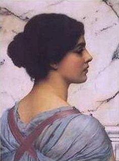 John William Godward - Belleza Pompeiana,1909