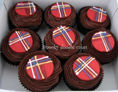 Scottish theme cupcakes