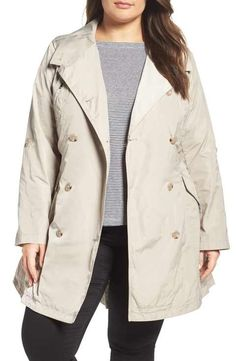 French Connection Drape Back Trench Coat (Plus Size) Reviews