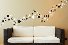 80 Sterne Wandtattoo  Sternen border