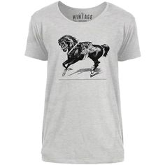 Mintage Circus Show Horse Mens Scoop Neck T-Shirt