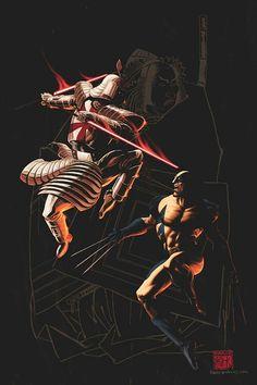 Wolverine vs Silver Samurai by Kaare Andrews