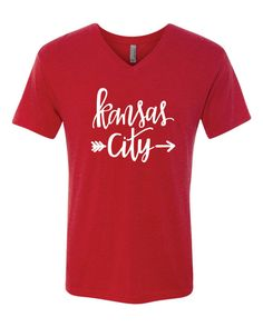 Kansas City Chiefs t-shirt by SassyPearlsOfWisdom on Etsy Kansas City Chiefs Shirts, Football Mom Shirts, Sports Shirts, Vinyl Shirts, Cool Shirts, Funny Shirts, Circuit Projects, Vinyl Projects, Diy Shirt