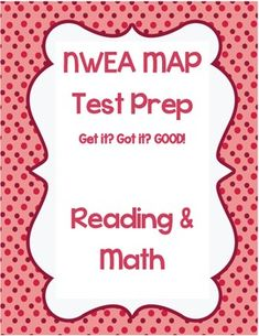 Hello all! This resources is great to use before those stressful MAP tests. I have researched (mostly using the Des Cartes) what skills students will be tested over on their Reading and Math MAP tests and have compiled these short practice tests. These tests will allow your students to get an idea of what questions they may see on their test, not to mention give you an idea of what skills they may need a review over.