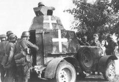 Zdobyty przez niemców Polski samochód pancerny wz. 34