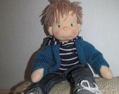 """Ähnliche Artikel wie Waldorf Puppe, Waldorf inspiriert, Puppe, Steiner-Puppe, Bio-Puppe, 14 """"große Puppe, Puppe Stoff, Stoff Puppe, handgemacht, Geschenk für Sie auf Etsy"""