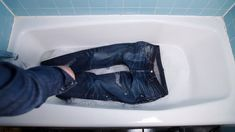 Some don't like to wash their raw denim fabric and will just soak them to try and make the age process retain well.