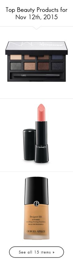 """""""Top Beauty Products for Nov 12th, 2015"""" by polyvore ❤ liked on Polyvore featuring beauty products, makeup, eye makeup, eyeshadow, shimmer eye shadow, palette eyeshadow, matte eye shadow, shimmer eyeshadow, matte palette eyeshadow and lip makeup"""