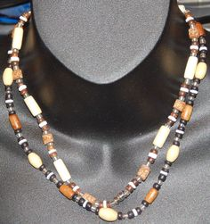 "Set of Wood Bead 17.5"" & 18.5"" Necklace with Barrel Clasps His and Hers Friends #Unbranded #StrandString"