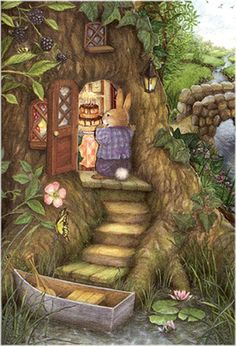 Love this for children's illustration.  It reminds me of Beatrix Potter.  Artist Susan Wheeler