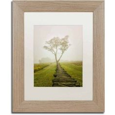 Trademark Fine Art 'Calming Morning' Canvas Art by Pipa Fine Art, White Matte, Birch Frame, Size: 11 x 14, Assorted