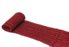Valentines Day Gift Crimson Red Scarf Knit by ArlenesBoutique