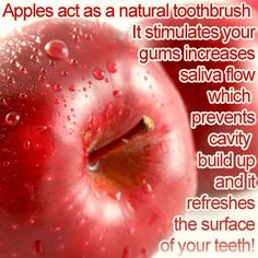 It's a true story that an apple a day keeps the dentist at bay. Www.DentalAssistantStudy.com