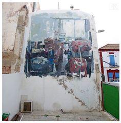 "EMILIO CEREZO  .. ""Transición"" .. for Festival d Arte Urbano Museo del Mar Menor ..  [Los Alcazares, Spain 2016] Murcia, Urban Art, Street Art, Spanish, Emilio, World, Painting, Cherry Tree, Museums"
