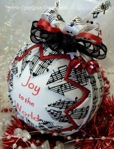 Musical Handmade Quilted Christmas Ornament Joy To by... | Shop food | Kaboodle