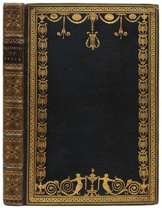 Late eighteenth-century binding on a third edition of The recuile of the Histories of Troie printed in 1553.