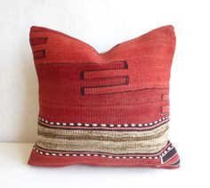 Red Kilim Pillow Cover