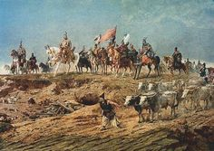 Grand Prince Arpad crossing the Carpathians, Arrivals of the Hungarians> Principality of Hungary formed in this territory in 895 AD Hungary History, Cradle Of Civilization, Holy Roman Empire, Central Europe, My Heritage, 15th Century, World History, Art History, Animal Paintings