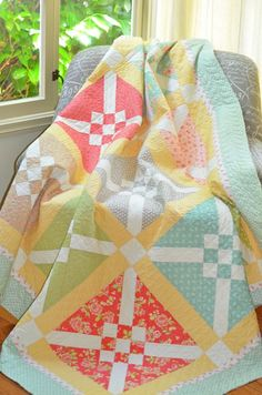 Cross check quilt pattern