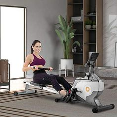 Daverose Magnetic Rowing Machine Folding Rowing Machine with Magnetic Clamp System and LED Monitor for Cardio Training Strong and quiet fitness equipment for ... Home Rowing Machine, Rowing Machines, Workout Machines, Training Equipment, No Equipment Workout, Fitness Equipment, Fun Workouts, At Home Workouts, Endurance Workout