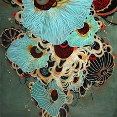 By Yellena James - reminds me of the underside of an oyster mushroom