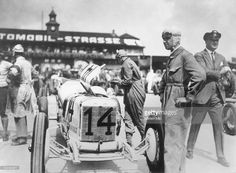 Car racing 1st Grand Prix of Germany at the Avus circuit in Berlin: subsequent winner Rudolf Caracciola standing next to his Mercedes 'Monza' racing car - 1926 - Photographer: Atelier Binder - Published by: 'Die Dame' 24/1926 Vintage property of ullstein bild