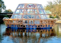 hydroponic solar-powered floating greenhouse... the Jellyfish Barge