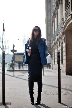 OUTFIT/Ending PFW with a bang | COTTDS | wearing: Alexander Wang Boots, Pencil Skirt and Denim Jacket