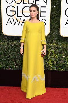 Natalie Portman in Prada at the 2017 Golden Globes