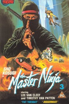 Sho Kosugi in The Master Ninja 3, VHS Cover Art